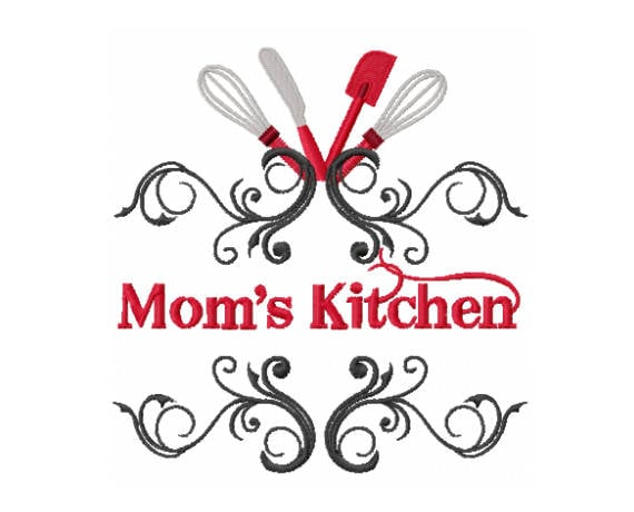 kitchen embroidery designs. Moms Kitchen Design  Embroidery Mother Day Baking
