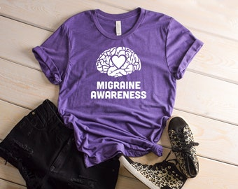 Migraine Awareness Shirt / Migraine / Headache / Chronic Migraine / Headache Relief Shirt