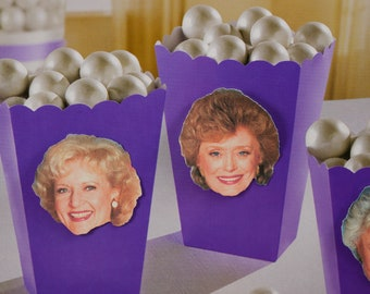 The Golden Girls, Popcorn Boxes, treat box,Treat Boxes,party supplies, Favor Box for Candy,Dorothy, Rose,Blanche ,Sophia