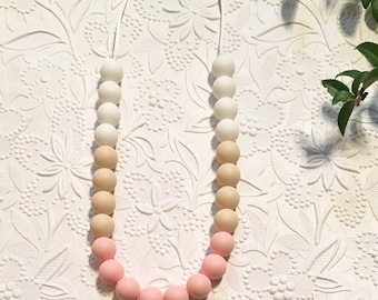 "VARIOUS COLORS* Silicone Teething Necklace, BPA Free, Food-Grade Materials // ""The Sarah"""