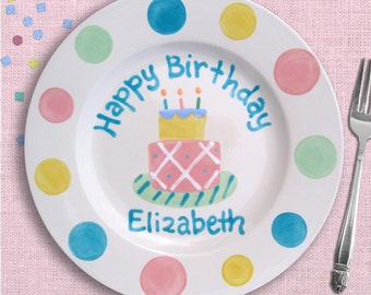 More colors. Birthday Girl - Personalized Birthday Plates ...  sc 1 st  Etsy & Birthday plate | Etsy