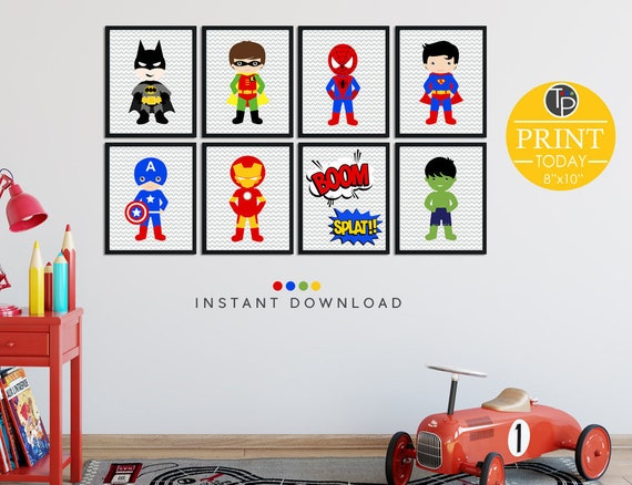 Superhero wall art wwwpixsharkcom images galleries for Superhero wall art