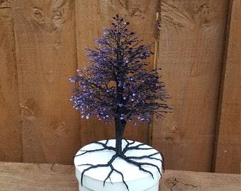 "Wire tree ""Cadbury purple""  cake topper"