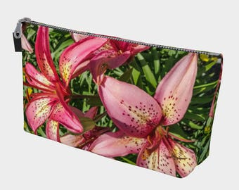Tiger Lilies Make Up Bag