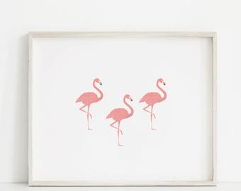 Flamingo Print, Tropical Print, Animal Prints, Flamingo Decor, Flamingo Art, Flamingo Wall Art, Bird Print, Pink Nursery Print