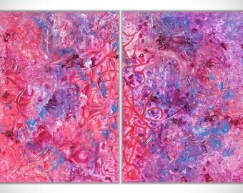 Purple wall art, Abstract Painting, Abstract Art, Large wall art, Original Art, Abstract canvas art, Textured wall Art, Panel Painting
