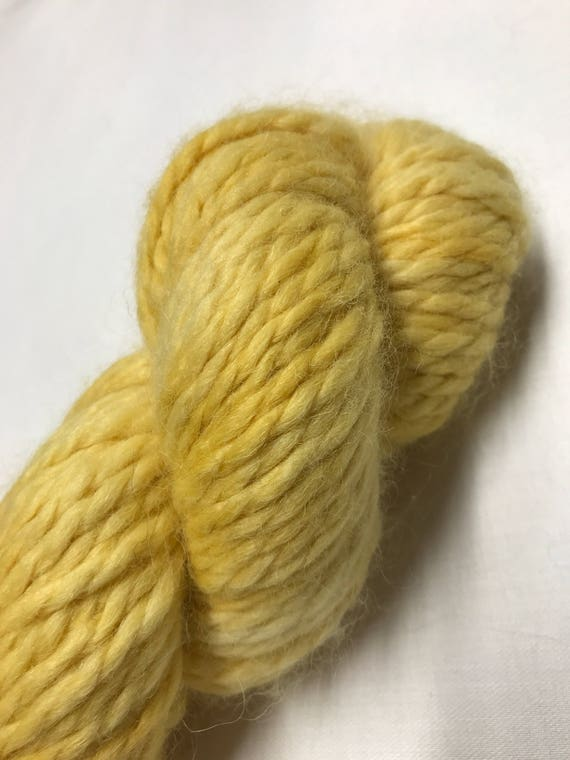 100g Baby Alpaca  Chunky / Bulky Yarn, hand dyed in Scotland, mustard yellow, so soft and squishy!