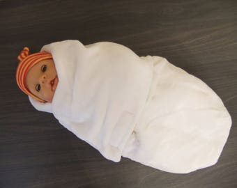 "Bunting swaddling + newborn hat ""butterflies collection."