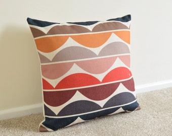 "Wavy/Retro/Scandinavian Multi Coloured Cushion/Pillow Cover 18 x 18"""