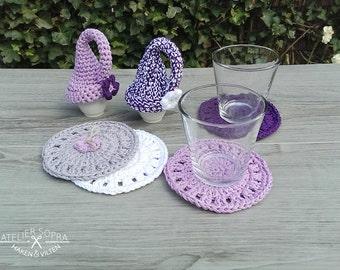 Crochet coaster - Home Decor - Custom Coasters - set of 4 coasters
