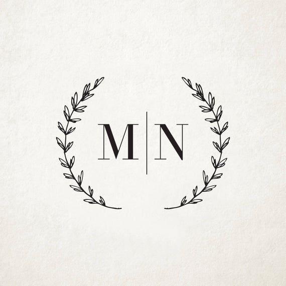 Custom rustic wedding monogram design custom wedding logo for Monogram homes floor plans