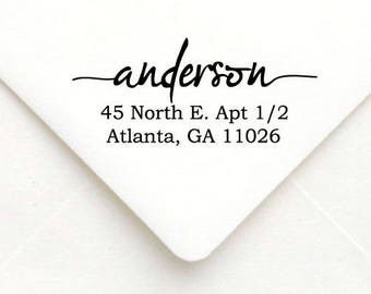 Personalized Self Inking Return Address Stamp - self inking address stamp - Custom Rubber Stamp A43