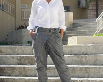 Women's pants, Boho pants, Pants with pockets, Fashion pants, Party pants, Summer pants, Office pants, Pants, Linen trousers, Linen P21217