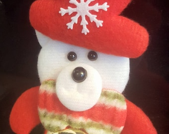 Christmas bear with bell tree decoration