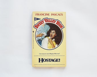 Hostage Sweet Valley High Book, Vintage 80's Books, Sweet Valley Twins, Francine Pascal