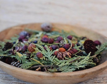 Potpourri, Natural, Rustic, Basket Potpourri, Maine Woods Scent, DOMESTIC SHIPPING INCLUDED,  Decorative, Pine, Balsam Fir