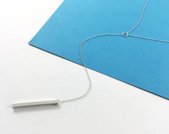 Monolith Y-Necklace // Sterling Silver