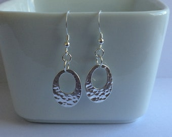 Hammered Sterling Silver Go Go Disc Earrings