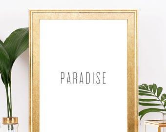 Paradise Print, Digital Print, Paradise Art, Bachelor Show Print, Digital Download, Black and White Art, Wall Prints, Most Popular