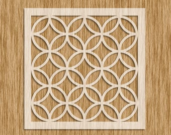 "Art Deco Tile Design Pattern Stencil - Sku PAD0104M (5.5"" x 5.5"")"