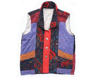 absolutely fabulous silk paisley vest