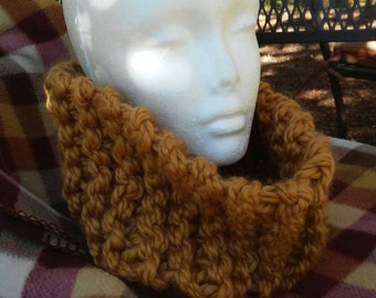 Butterscotch Gold Knitted Cowl Scarf Sassenach Outlander Highland Knits Series