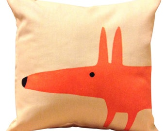 Scion Mr Fox Cream Cushion Cover 12''