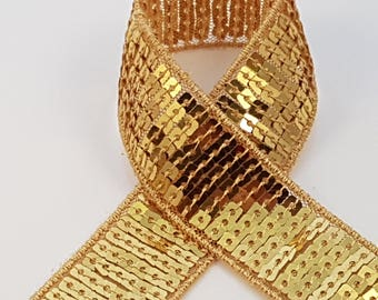 sequin gold braid