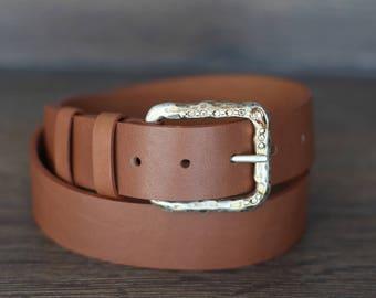 Leather Belt, Light Brown Leather Belt, Whiskey Brown Leather Belt, Fashion Belt, Womens Belt