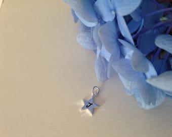 Add a sterling silver handstamped star