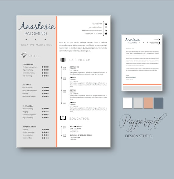 Resume template with cover letter for word with timeline 50 yelopaper Choice Image