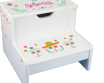 Personalized Fiesta Childrens Step And Storage Stool