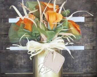 Flowers made of corn husk