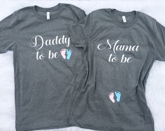 Couples pregnancy Announcement shirts, Preggers Shirt, Couples shirt, Daddy to Be Shirt, Mom to Be, Pregnancy Reveal, New Mom, new dad Shirt
