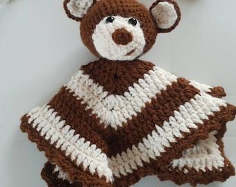 Cute Bear lovey/ comforter/ blanket