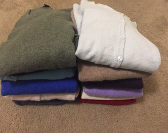Cashmere Sweater Lot 10 PC 100% Cashmere