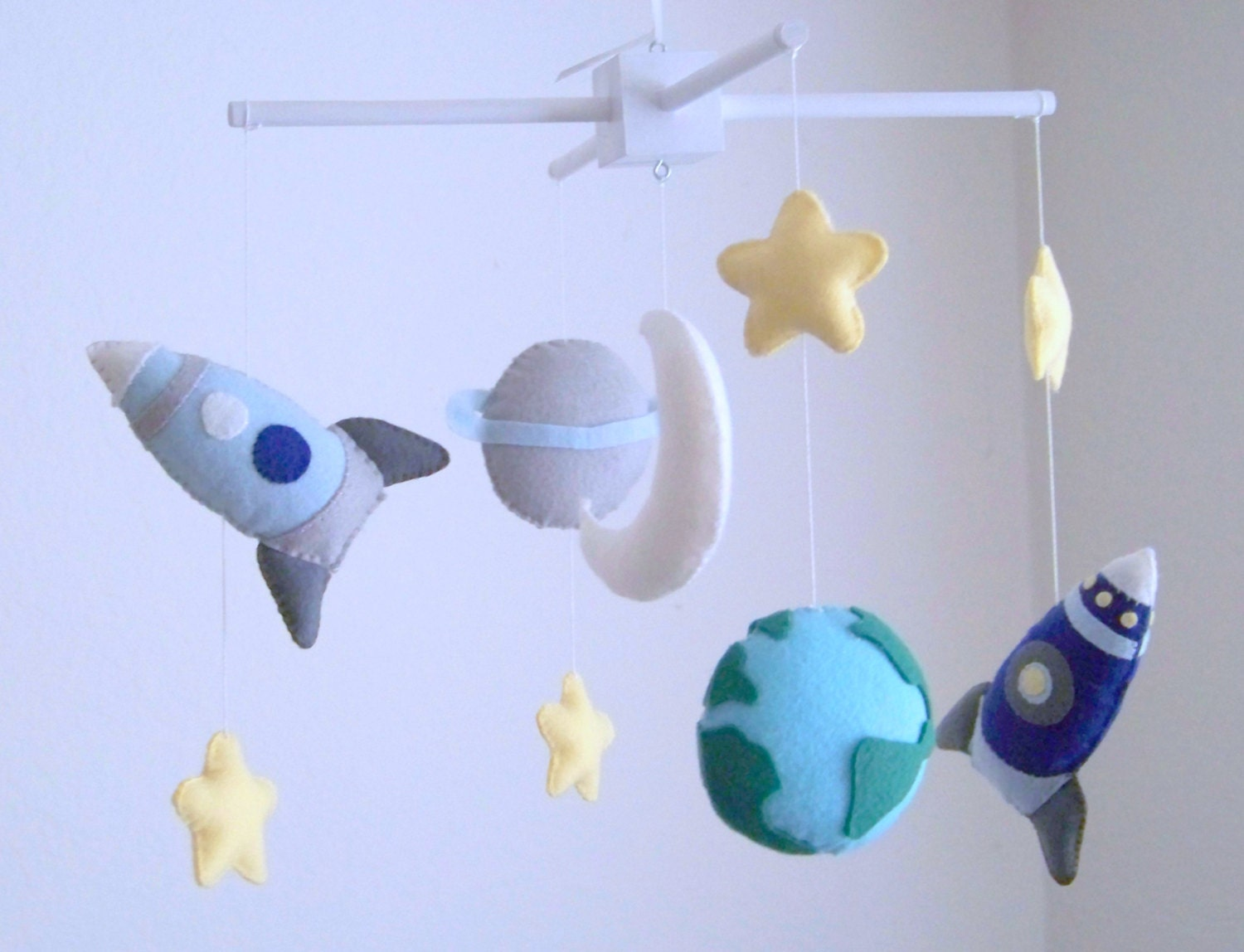 Rocket Baby Mobile Baby Mobile Nursery Crib Mobile Space