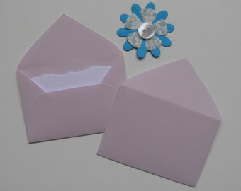 Lilac Mini envelopes with inserts, Paper ephemera, Paper embellishments, Journaling, Project Life, Little party favors, Sets of 10, 25, 50