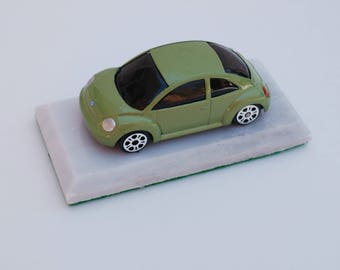 Handcrafted Volkswagen Beetle Paperweight or key chain or ceiling fan chain pull