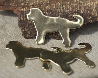 Fluffy Sweet Dog for Blanks Enameling Stamping Texturing