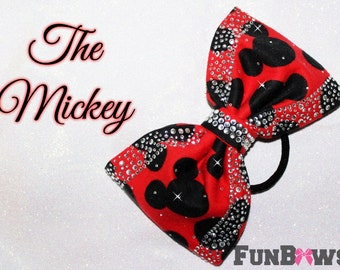 The Mickey - Gorgeous New Sewn Mickey  Rhinestone Boutique Bow by Funbows