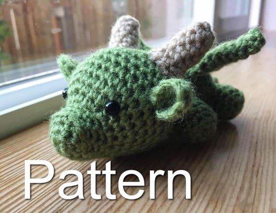 Crochet Amigurumi Dragon : Baby dragon crochet pattern game of thrones crochet amigurumi