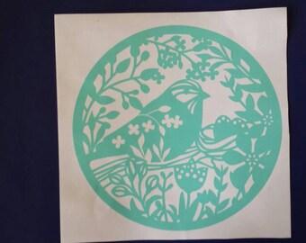 Bird Decal, Bird Decor, Nature Decal, Bird Sticker, Vinyl Decal