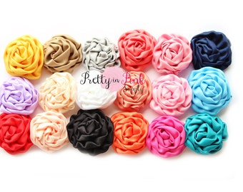 MINI Isabella Collection Ruffled Rosettes- You Choose Quantity- Rolled Rosettes- Rolled Rosettes- Rosettes- Flower- Supply- DIY Headbands