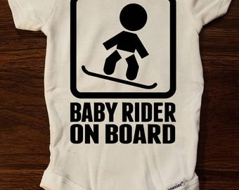 Baby Onesies - Baby Rider On Board