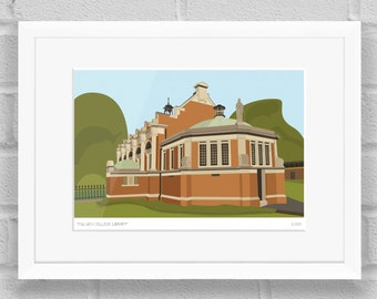 Dulwich College Old Library, London - Limited Edition Giclée Art Print / Poster