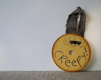 CD Ornament, Halloween Decor, Spider Decor, Halloween Ornament, Spider Ornament, Halloween Decorations, Halloween Spider, Halloween Sign