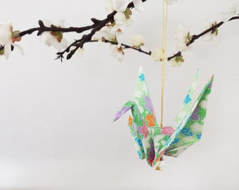 Exquisite Origami Paper Crane hanging decor - Peace Crane Gift - Origami crane - Thank you - Congratulations - Anniversary - Get well -#B2HG