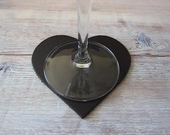Heart Dark Brown Box Of 6
