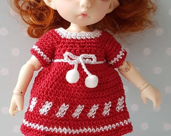 PukiFee/ Lati Dress and Shoes Lovely Red